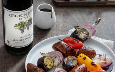 Grilled Sausages and Summer Vegetables with Balsamic Drizzle