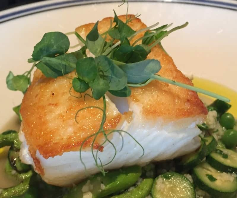 Alaskan Halibut with Spring Vegetables